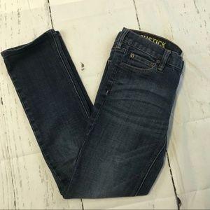J. Crew F Matchstick dark wash low rise Jeans